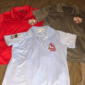 3 ladies' dry fit St. Louis Cardinals sport polos
